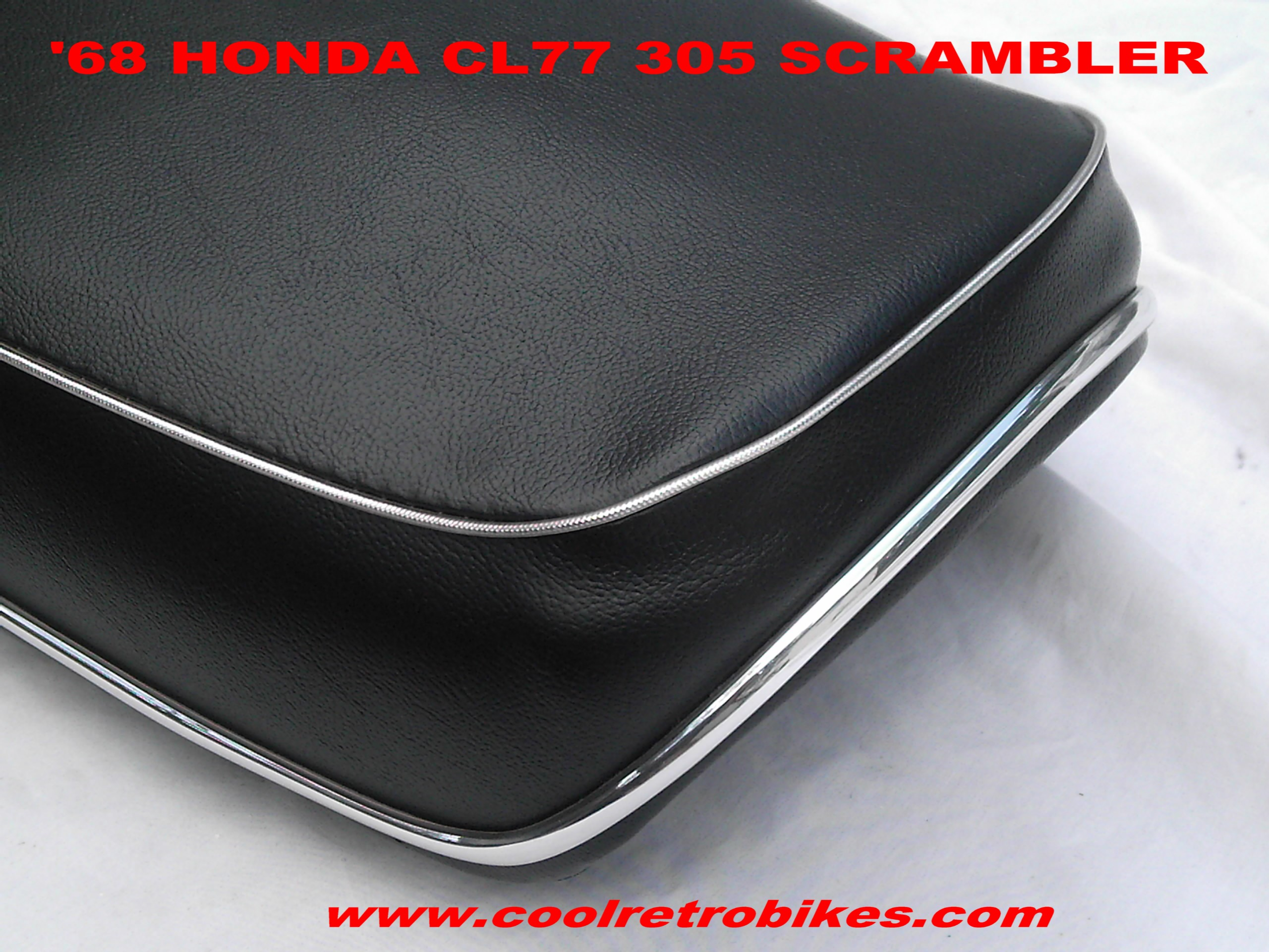 Honda 305 Scrambler Cl 77 Seat Restored 68 Candy Orng