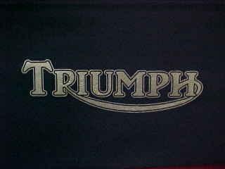 TRIUMPH SEAT STENCIL